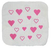シャーリング範囲内印刷タオル