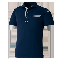 スタイリッシュ半袖ポロシャツ