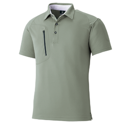 ジップポケット半袖ポロシャツ