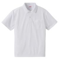 4.1オンスドライアスレチックポロシャツ(ポケット付き)