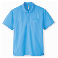 ドライポロシャツ(ポケット付き)